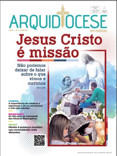 Capa_ Edição 192 - Outubro de 2021 - Jesus Cristo é Missão